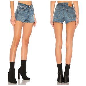 Levi's Denim Jean Wedgie Fit High Rise Shorts